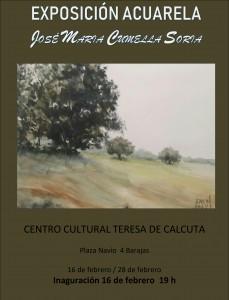 cartel EXPOSICIÓN Jose Mª Cumella-1