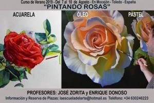 José Zorita_Curso verano 2019 PINTANDO ROSAS