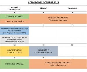 ACTIVIDADES OCTUBRE 2019