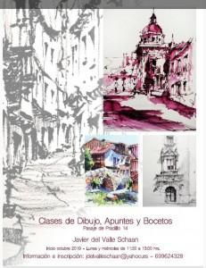 Cartel clases Javier del Valle