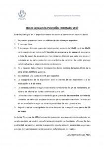 Exposición Pequeño Formato 2019_Bases