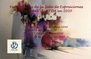 Disponibilidad de la Sala de Exposiciones Esteve Botey en 2020