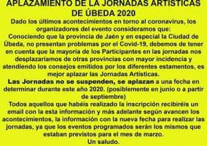 20200327_aplazamiento-jornadas-artisticas-en-ubeda